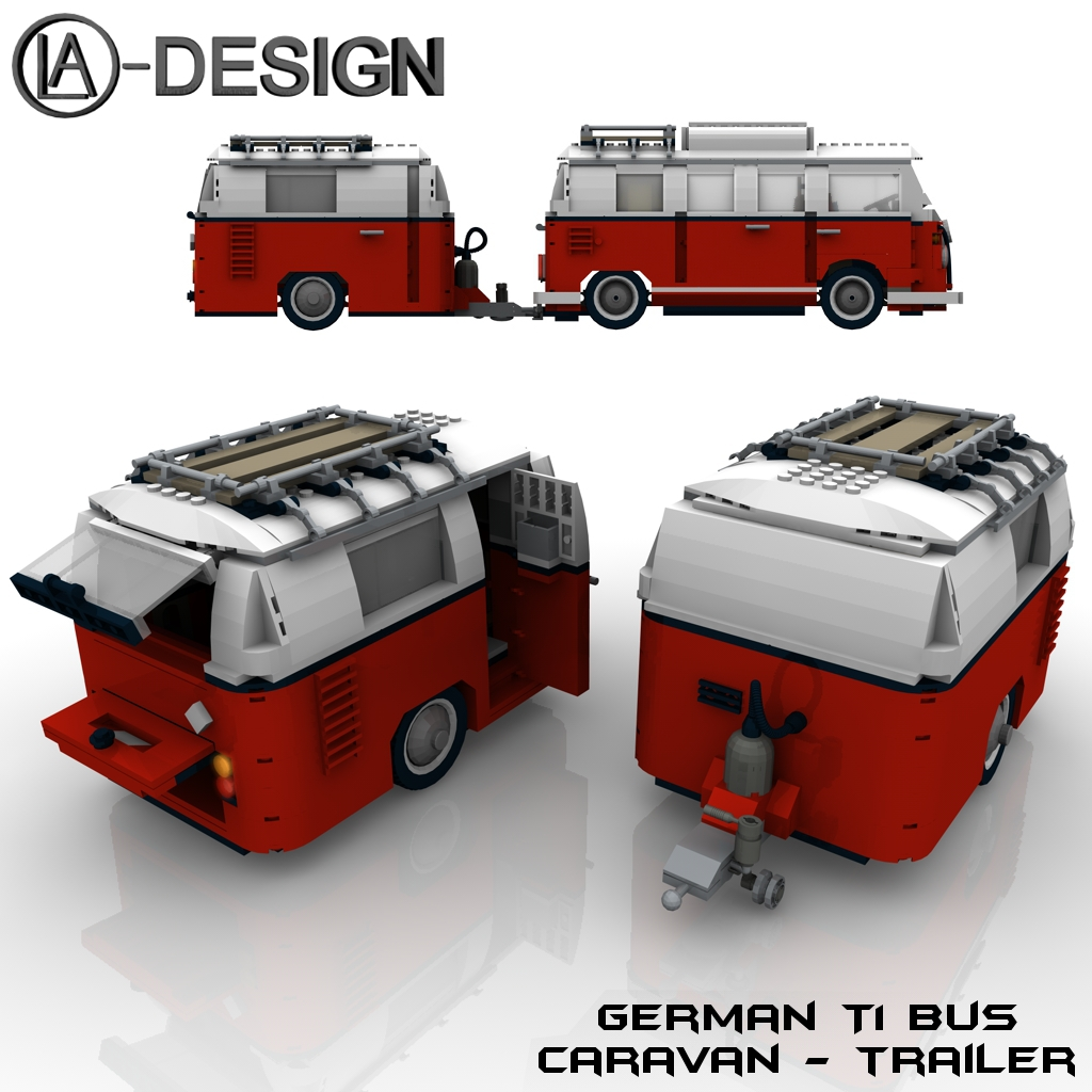lego custom wohnwagen vw t1 bus 1a a photo on flickriver. Black Bedroom Furniture Sets. Home Design Ideas