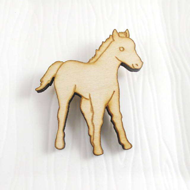Meadow Pony Wood Pin