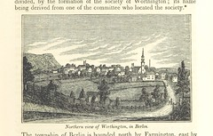 """British Library digitised image from page 85 of """"Connecticut Historical Collections, containing a general collection of interesting facts ... relating to the history and antiquities of every town in Connecticut, with geographical descriptions ... Second e"""