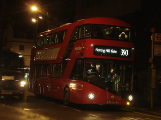 Metroline LT108 on Route 390, Notting Hill Gate