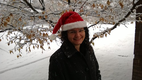 Santa Hat in the Snow!