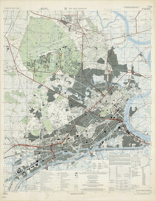 BẢN ĐỒ SAIGON 1963 - Tỷ lệ 1/12.500