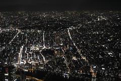 Night view from Tokyo sky tree