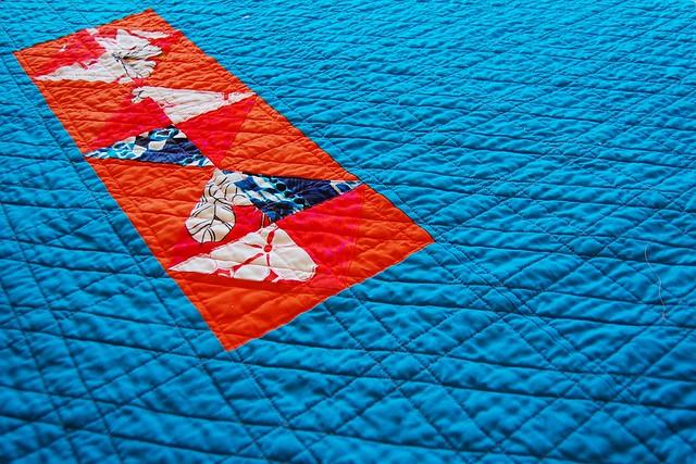 Polynesian Scrap Quilt Back