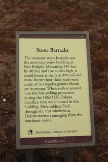 stone barracks sign