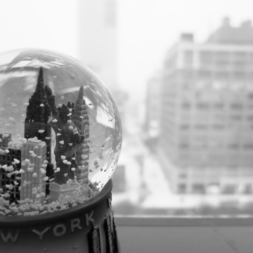 Snow globe on a snow day #nyc