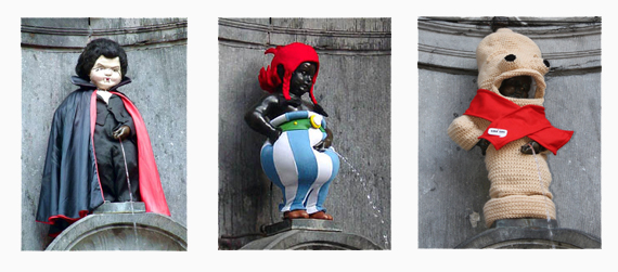 Manneken Pis de Bruselas: Mannekken Pis cuenta ya con casi 900 trajes que luce tras ser aprobados por el consejo que administra y protege el monumento, todos podemos regalarle un traje, ¿te animas a hacerlo? Manneken Pis de Bruselas - 11407225893 23a9aa5aab o - ¿ Por qué es tan famoso el Manneken Pis de Bruselas ?