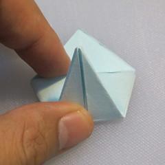 การพับกระดาษรูปดอกมอร์นิ้งกลอรี่ (Origami Morning Glory – アサガオの折り紙) 008