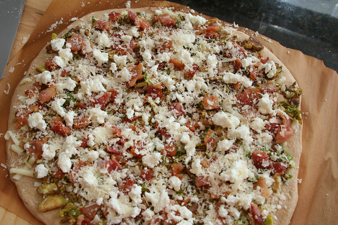 brussels sprouts pizza 1