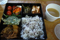 fish(0.0), meal(1.0), lunch(1.0), steamed rice(1.0), ekiben(1.0), food(1.0), dish(1.0), cuisine(1.0), bento(1.0),