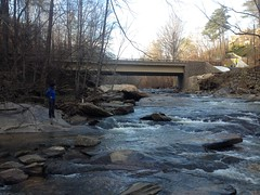 Kathryn at Sope Creek Near Paper Mill Road