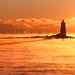 Lighthouse Shadow in Seasmoke by Jim Salge