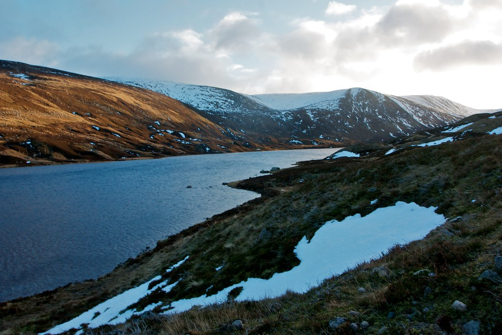 Looking up Loch Callater