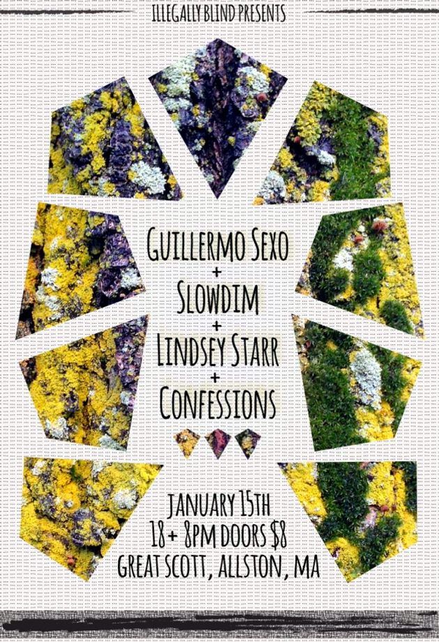 Guillermo Sexo, Slowdim, Lindsey Starr, Confessions | Great Scott | 15 Jan.