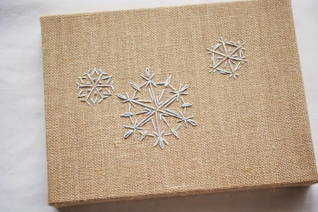 Burlap Canvas Snowflakes
