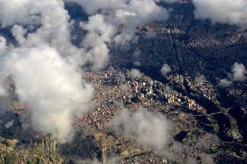 La Paz desde el aire