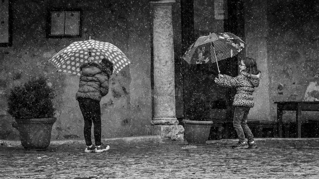 Just singing and dancing in the rain...