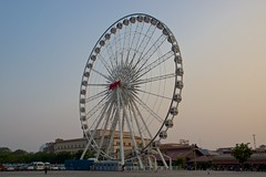 Asiatique sky by Mekhong by the Chao Phraya river in Bangkok, Thailand