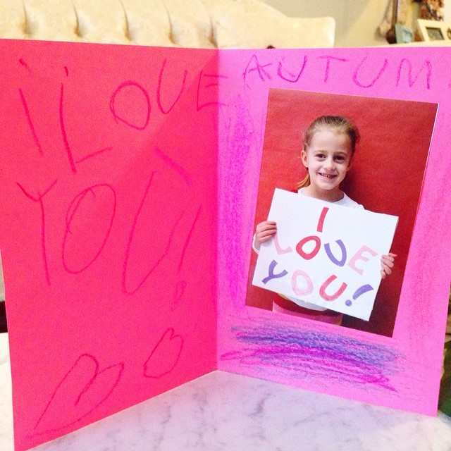 Best Valentine ever from my sweet little girl!