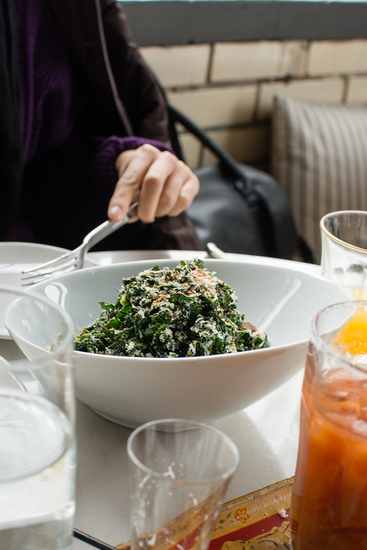 Kale salad at Olio