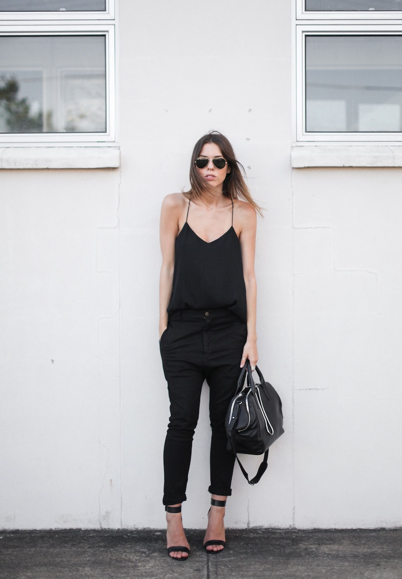 modern legacy fashion personal style blog australia street bassike camilla and marc all black tibi heels alexander wang jamie chain tote bag workwear (6 of 10)