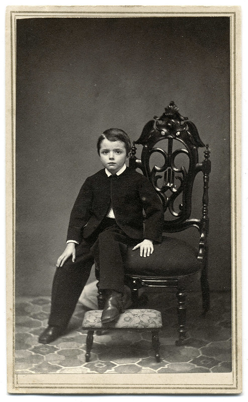 Boy with Ornate Chair