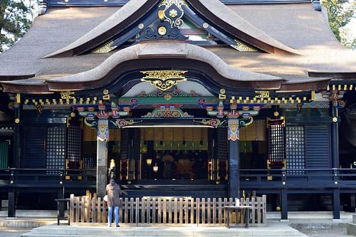香取神宮拝殿正面 by leicadaisuki