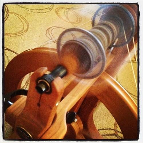 Still working on the alpaca singles... #spin365