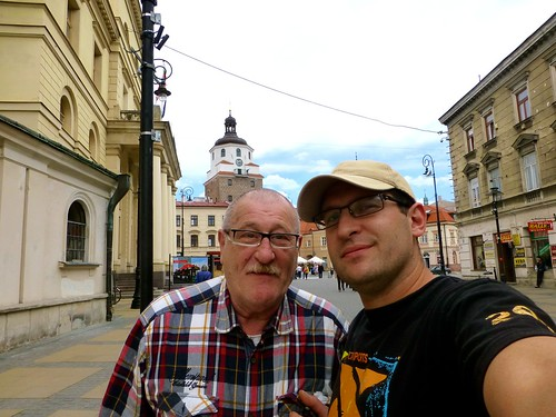 With my dad