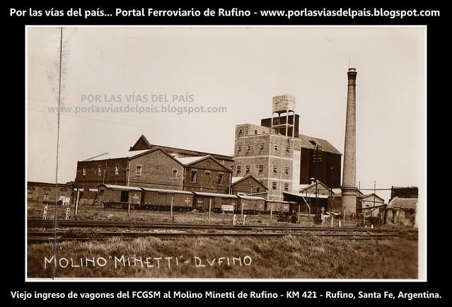 Viejo ingreso de vagones al Molino Minetti.