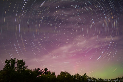 Star Trails and Aurora