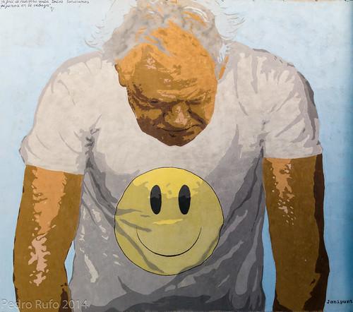 Muros de Tabacalera - Smiley solo en la camiseta