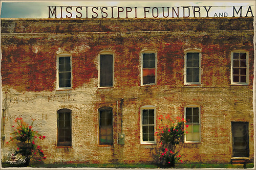 Image of an old foundry building in Jackson, Mississippi
