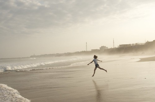 africa beach girl fog dance twilight sand ballerina waves ghana westafrica