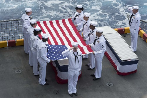 USS Peleliu Held a Burial at Sea