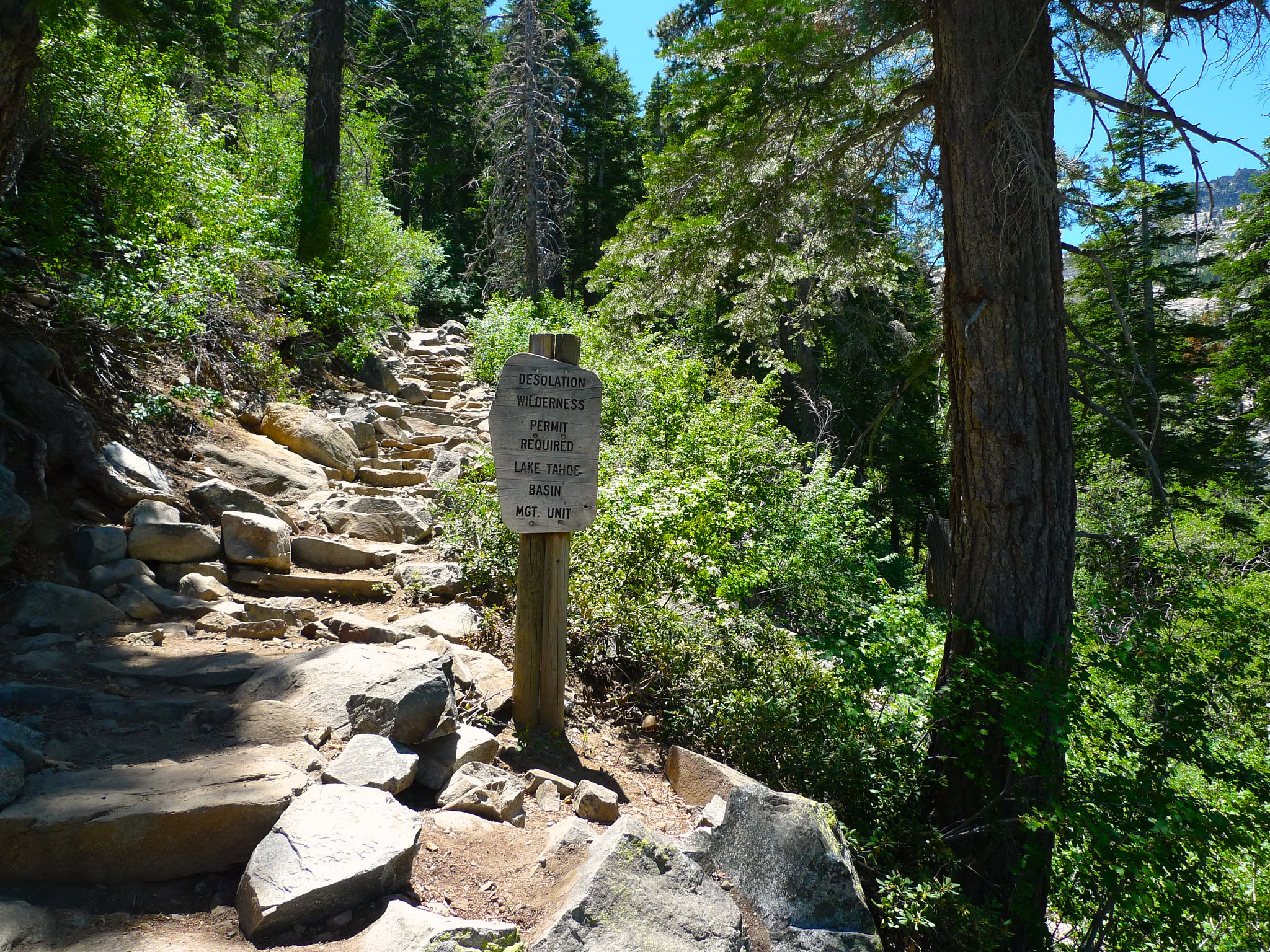 The wilderness boundary on my way out. So many stairs on the way down from Eagle Lake!