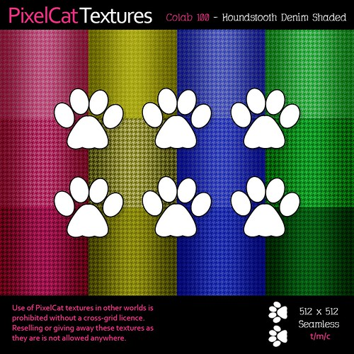 PixelCat Textures - Colab 100 - Houndstooth Denim Shaded