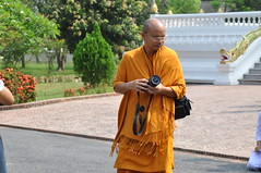 Some of the monks are pretty high tech- carrying dSLRs and stuff