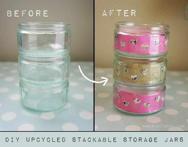 DIY UPCYCLED STORAGE JARS 0