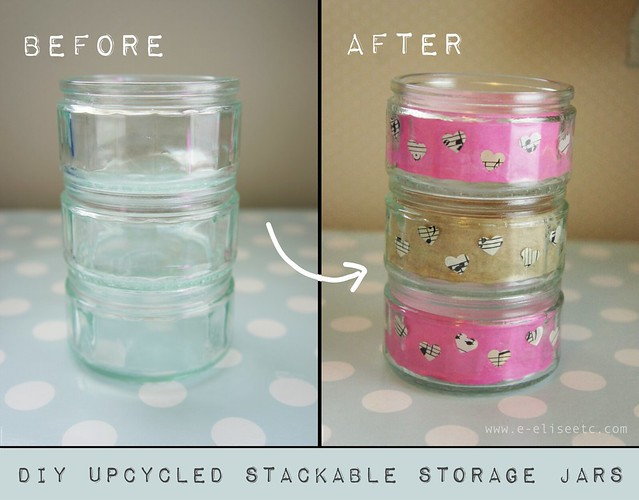 DIY UPCYCLED STORAGE JARS 0