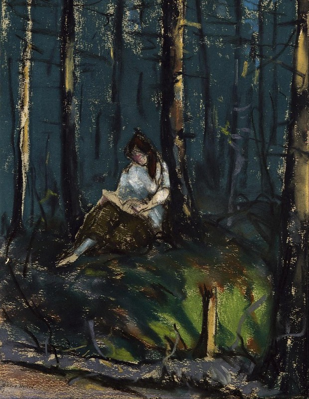 Robert Henri - The Reader in the Forest (1918)