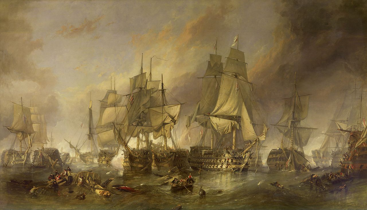 The Battle of Trafalgar by Clarkson Frederick Stanfield (1793 - 1867)