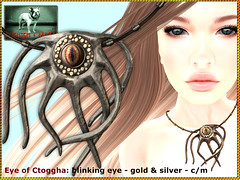 Bliensen - Eye of Ctoggha - necklace with blinking eye