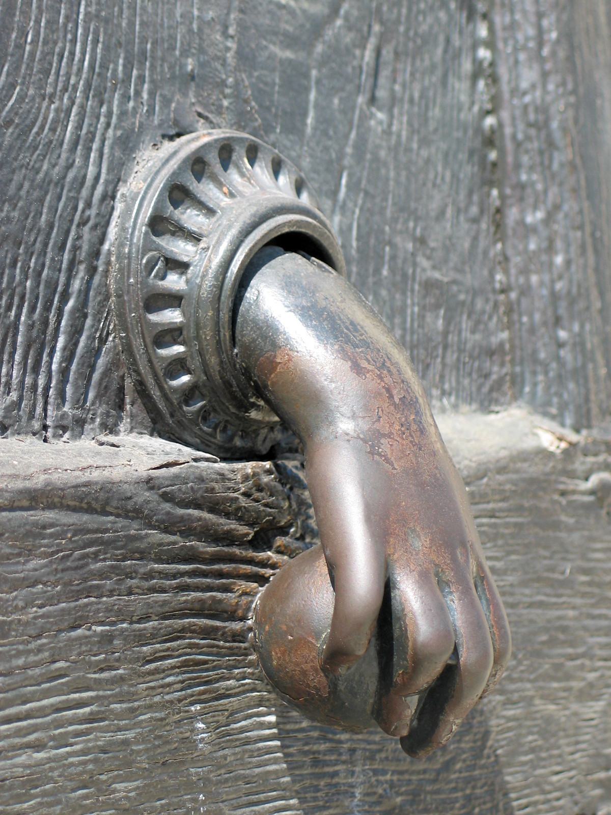 Door knocker in Orleans, France