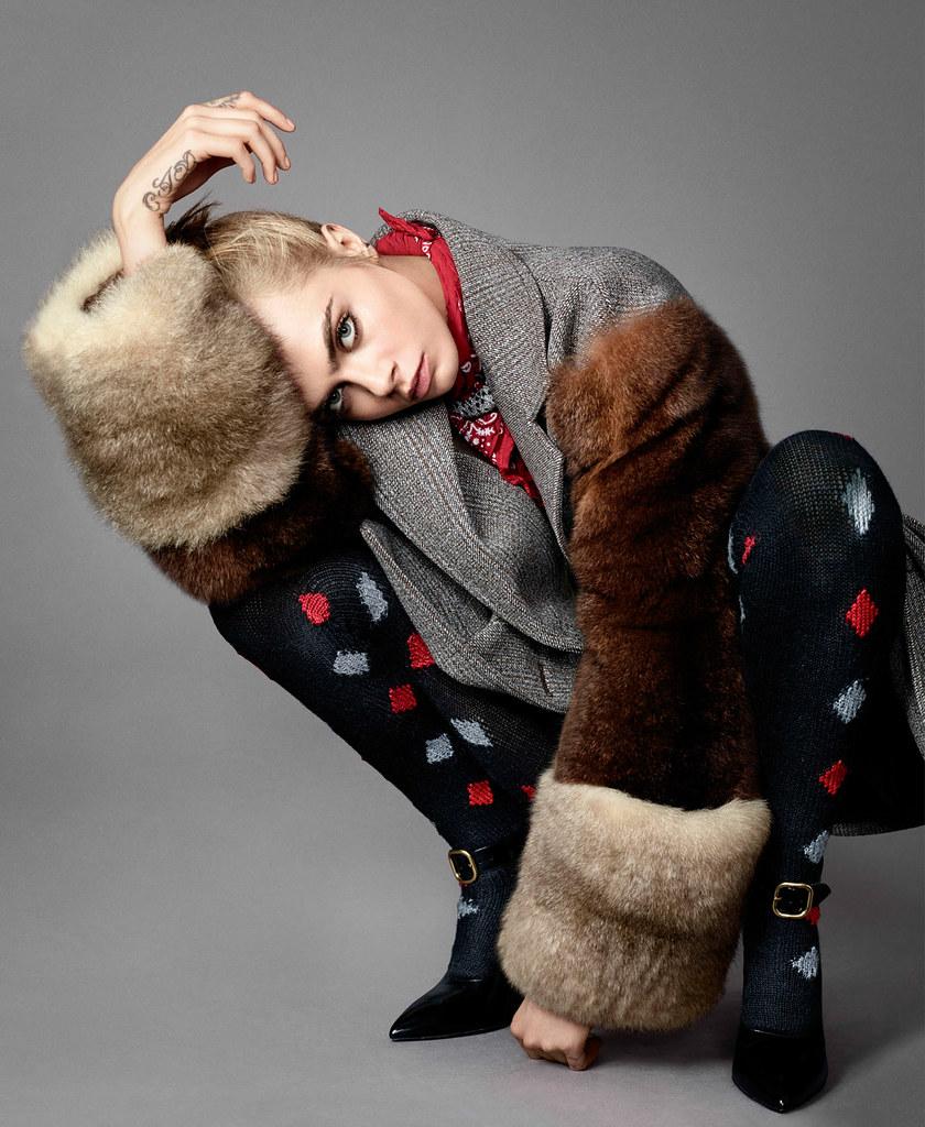 Кара Делевинь — Фотосессия для «Elle» 2016 – 5