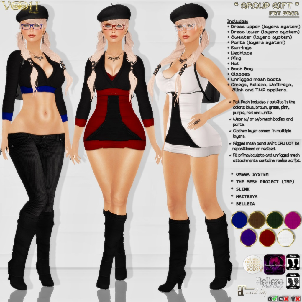""" VOOH "" -  GROUP GIFT 57 - SecondLifeHub.com"