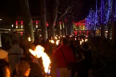 sam, 03/12/2016 - 21:43 - La Marche aux flambeaux, dans le cadre du Téléthon, a cheminé, comme il est de tradition, de la Cité médiévale à la place Carnot, ce 3 décembre 2016.