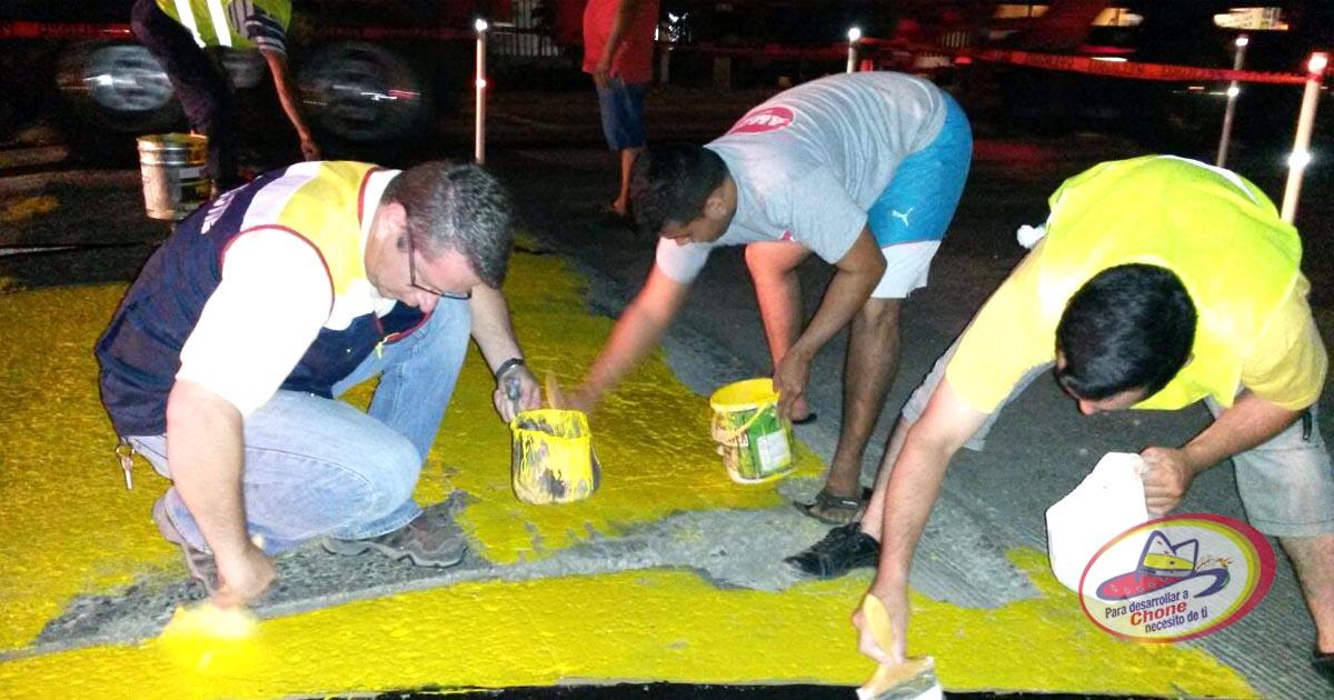 Dirección de tránsito pintó los muros en el Bejucal