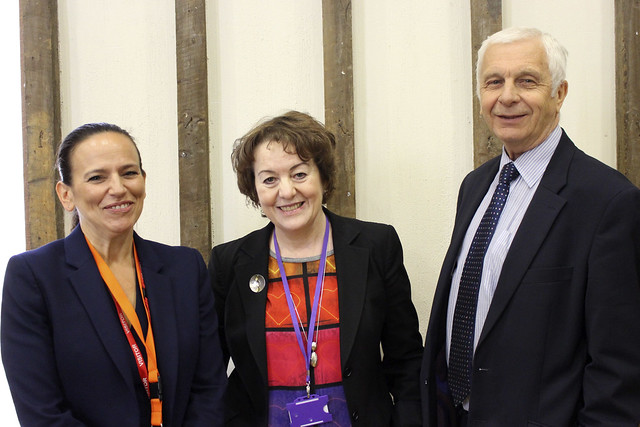 Jane Button, Jillian Barker and Mick Waters at the Creativity and the Arts Leadership Conference in Thurrock, October 2016 © ROH. Photograph by Cathy Al-Ghabra