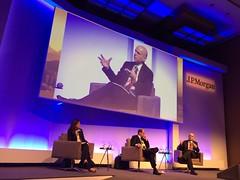 Secretário Marcelo Caetano (à dir.) no evento Brazil Opportunities Conference 2016, em SP, promovido pela J.P Morgan.30.nov.2016